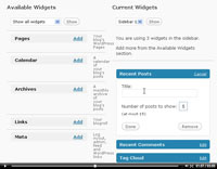 Working with Widgets